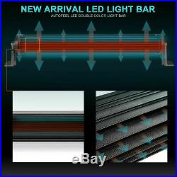 10D 50inch 4032W Tri-Row LED Light Bar Combo Beam Driving 4WD 5052 White&Amber