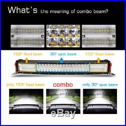 10d 22 1200w Cree Curved Led Work Light Bar Spot Flood Car Offroad Fog Lamp
