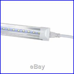 10x LED 4 Foot T8 Integrated Tube Light With Bracket 20w Bright White CLEAR 6500K