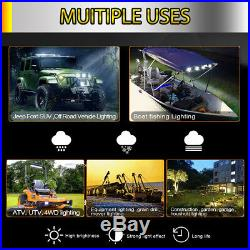 12D 4 Row LED Light bar Curved 52Inch 3000W Spot Flood Combo kit offoad 50 42'
