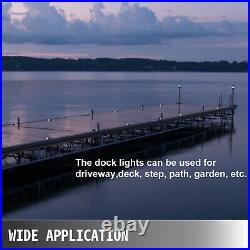 12-Pack Driveway Lights Solar LED Dock Lights Pathway Lights with Switch White