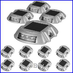 12 Pack Solar Dock Light Solar Power LED Lights Road Driveway Pathway 6 LEDs