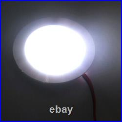 12 volt 3w Interior RV Marine LED Recessed Ceiling Lights Cool White Silver 6pcs