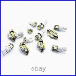 13x LED Lights Interior Package Kit for Dome License Plate Lamp Bulbs Pure White