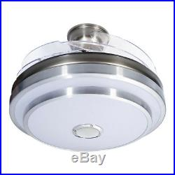 144 LED Remote Ceiling Fan Light Warm cool white lights With Bluetooth speaker