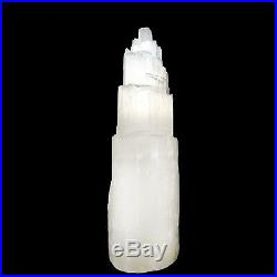 15 16 Extra Large Selenite Tower Lamp White Natural Crystal Light LED Cord XL
