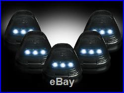 1999-2015 Ford F250 F350 Smoked Cab Roof Light Kit White LED Light WiringHarness