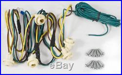 1999-2015 Ford Super Duty RECON Smoked Cab Roof White LED Lights Wiring Harness