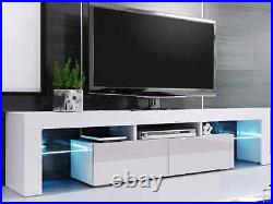 200cm High Gloss TV Stand Display Cabinet TV Unit for TVs Upto 75 with Led Lights