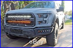 2017 2018 Ford Raptor Behind The Grill M&r Dual Led 40 Light Kit- White+amber