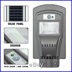 20With40With60W LED Solar Powered Wall Street Light PIR Motion Outdoor Garden Lamp