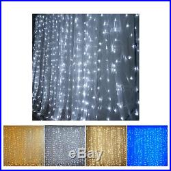 20 ft x 10 ft LED Lights Organza Backdrop For Weddings Birthday Party Events