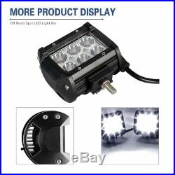 20x 4 Inch 18w Pods Cree Led Work Light Bar Spot Offroad Cube Driving Fog Lamp