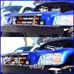 21.9'' 120W Cree LED Light Bar Combo Driving Fog Lamp Amber White Offroad Car