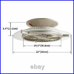 22 Ultra-thin LED Ceiling Fan Light Lamp Chandelier Bedroom Simple and Modern