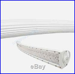 240W 40 inch LED Work Light Bar White Curved Off road Truck Driving Boat SUV 42