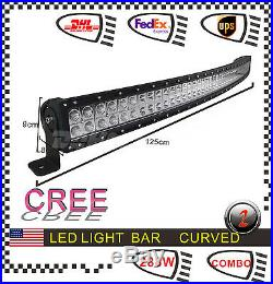 288W 50inch Curved Led Light Bar Spot Flood Combo For ATV Offroad Jeep Lamp