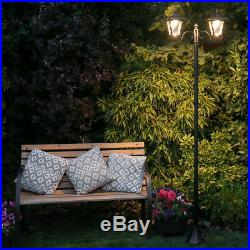 2.1m Solar Power Outdoor Security LED Lamp Post Light Traditional Driveway