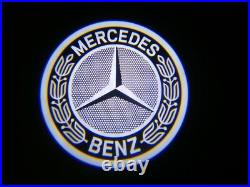 2 Mirror LED Puddle Lights Welcome Courtesy Projector Logo for Mercedes Benz AMG