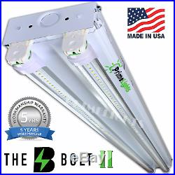 2 PACK LED SHOP LIGHT 5000K Daylight 4FT Fixture Utility Ceiling Light USA MADE
