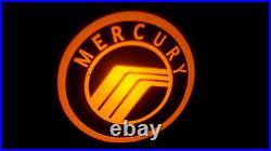 2pc White Mercury 5w Led Emblem Door Projector Ghost Shadow Puddle Logo Light