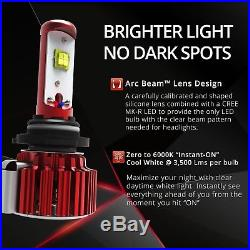 2x OPT7 60w H11 H8 H9 LED Fog Light Bulbs à 6000K CREE White HID Replacement