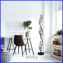 30W LED Remote Control Spiral Floor Lamp Dimmable Light Modern Interior Lighting