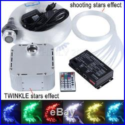 32W TWINKLE RGB Fiber Optic Star Ceiling Kit LED Meteor Light 800pcs 4m 0.75mm