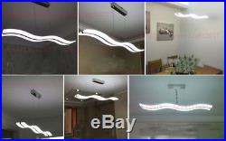 38W Modern Acrylic LED Wave Chandelier S shape Pendant Lights Ceiling Lamp