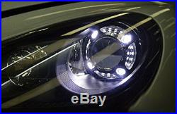 3.0 H1 Bi-Xenon Projector Lens with Porsche Style 4-LED DRL Shroud For Headlights