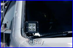 40W CREE LED Pod Light Kit with A-Pillar Brackets, Wirings For 07-up Toyota Tundra