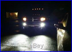 40W CREE LED Pods withFoglight Opening Mounting Bracket Wiring For 02-08 Dodge RAM