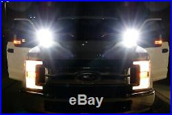 40W CREE LED Pods with A-Pillar Brackets Wiring For 15-up Ford F150, 17+ F250 F350