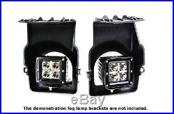 40W CREE LED Pods with Foglight Opening Brackets, Wiring For 03-06 GMC Sierra 1500
