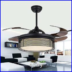 42 LED Ceiling Fan Light Airflow Warm + Cool White Home Decor withRemote 4 blades