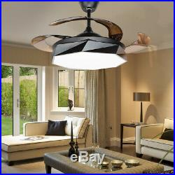 42 Macaron Remote Invisible Ceiling Fan Light LED Chandelier Lamp Modern Style