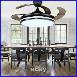 42 Modern LED Ceiling Fan Light 3 speed control 4 Retractable Blades WithRemote