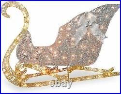 48 Led Lighted Holiday Sleigh Outdoor Indoor Christmas Yard Decoration Display