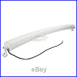 4D+ White 50Inch 672W Curved Led Work Light Bar Offroad for Jeep ATV PK 52 54