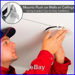 4 Bluetooth Ceiling/Wall Speakers, 4 2-Way Speakers with Built-in LED Light