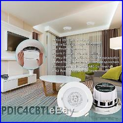 4 Bluetooth Ceiling/Wall Speakers, (8) 2 Way Speakers with Built-in LED Light