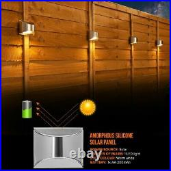 4 X LED Solar Power Garden Fence Lights Wall Light Patio Outdoor Security Lamps