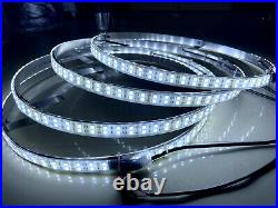 4x 17.5'' LED Wheel Lights Solid Color White Double Row Switch Control For Truck