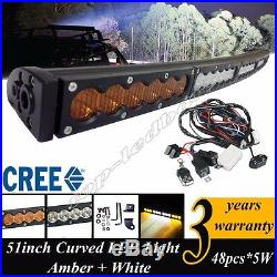 50Inch 240W Amber/White Dual colors Led Work Light Bar Combo Offroad 4x4 Truck52