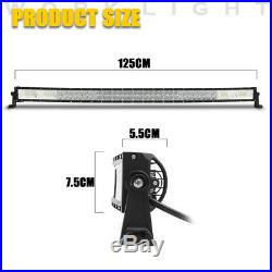 52/42/22 Inch LED 5D Curved Work Light Bar Combo Car Pickup Offroad Driving Lamp