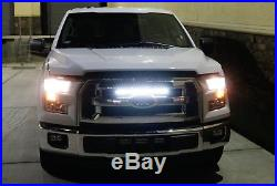 54W 20 LED Light Bar with Hidden Behind Grille Mount Bracket For 15-up Ford F150