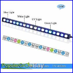 54with81with108w Blue White Strip LED Aquarium Bar Light for Tank Fish Reef Coral