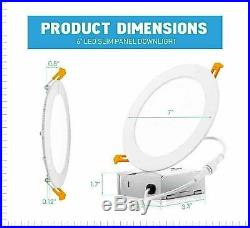 6-12 x PARMIDA 6 12W LED Slim Panel Downlight Dimmable Recessed Ceiling Light