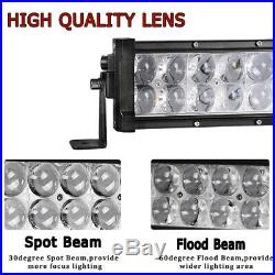 700W Curved LED Light Bar 50inch +22'' +4'' Pods Offroad For Jeep Truck SUV 4WD