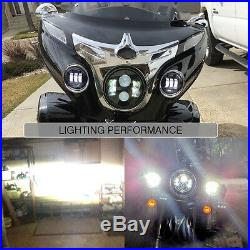 7 LED Headlight + Passing Lights for Motor Fatboy Heritage Softail Deluxe FLST
